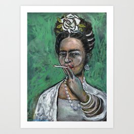 Peg Leg (Frida Kahlo, oil on canvas) Art Print