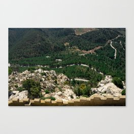 Landscape from the top of the hill Canvas Print