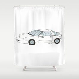 Flat Tire Firebird Shower Curtain