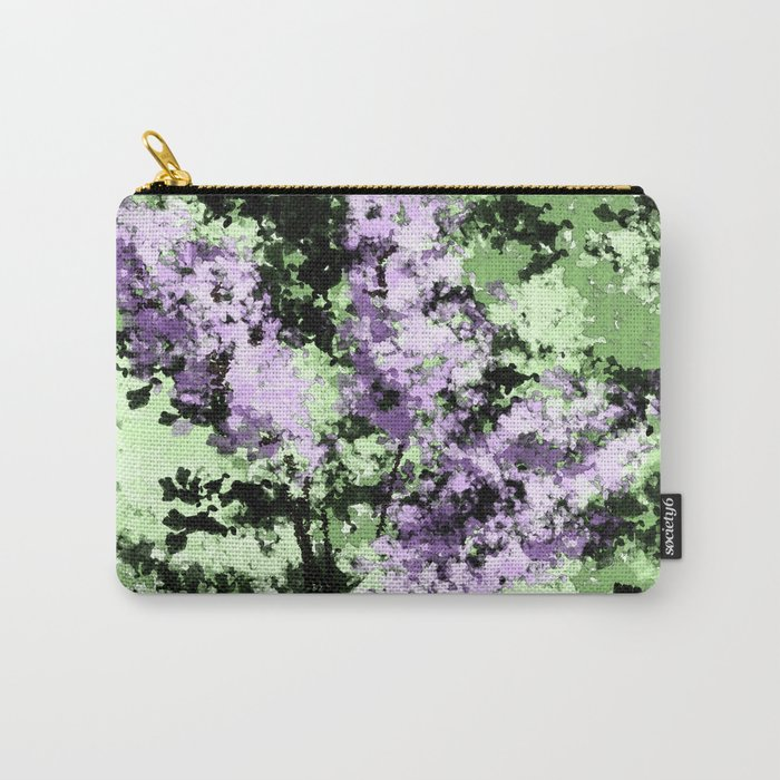 LILACS WATERCOLOR  (abstract) Carry-All Pouch