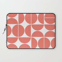 Mid Century Modern Geometric 04 Living Coral Laptop Sleeve