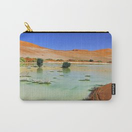 Water in the Namib desert after rain season, Namibia II Carry-All Pouch