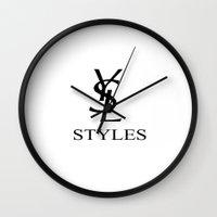 ysl Wall Clocks featuring YSL STYLES by nina