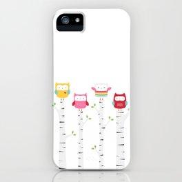 Treetop Owls iPhone Case