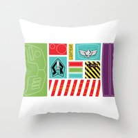 buzz lightyear Throw Pillows featuring TOY STORY : BUZZ LIGHTYEAR STICKERS KIT by DrakenStuff+