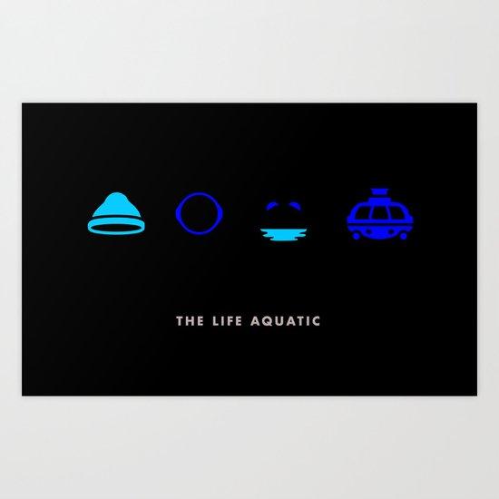 The Life Aquatic, Four Icon Challenge Art Print