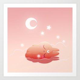 Hisi is sleeping Art Print