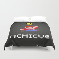 mario Duvet Covers featuring Mario by eARTh