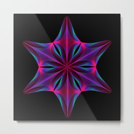 Abstract geometric shape  - rotating elements of lines and circles. Metal Print