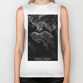Hong Kong Black Map Biker Tank