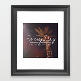 Taco Tuesday Framed Art Print