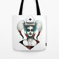 harley Tote Bags featuring Harley ! by Alejandro Dayer