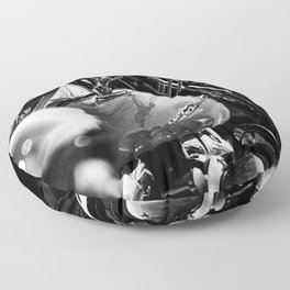 Black and Chrome II Floor Pillow