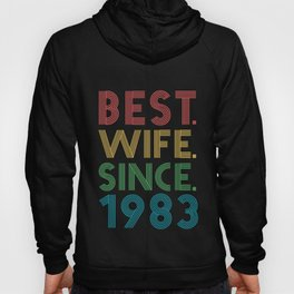 Best. Wife. Since. 1983 36th Wedding Anniversary for Her Hoody
