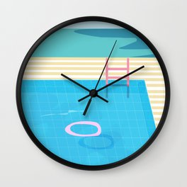 Swimming Pool Sessions Wall Clock
