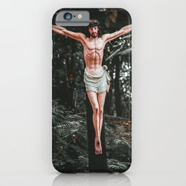 Lord jesus was crucified iPhone Case