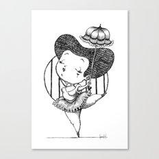 Chubbie Ballerina Canvas Print
