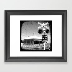 Stop On Red - Through The Viewfinder (TTV) Framed Art Print