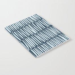 Inspired by Nature | Organic Line Texture Dark Blue Elegant Minimal Simple Notebook