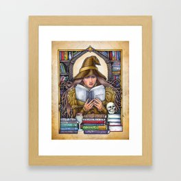 Good Reads Witch by Bobbie Berendson W. Framed Art Print