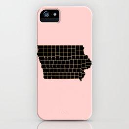 Iowa map iPhone Case
