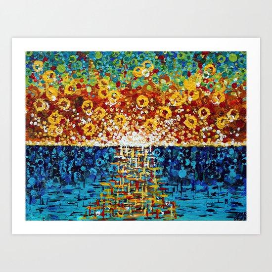 :: Confetti Sunrise :: Art Print