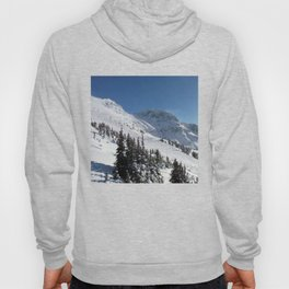 Mountains color palette of white-black-blue Hoody
