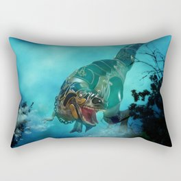 Awesome t-rex with armor Rectangular Pillow