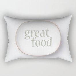 Empty white plate Rectangular Pillow