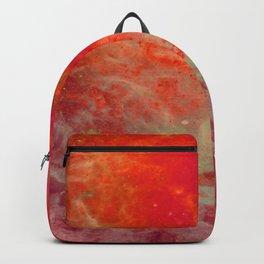 Red Orange Nebula : Galaxy Space Backpack