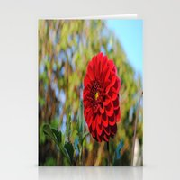 dahlia Stationery Cards featuring Dahlia by Renee Trudell