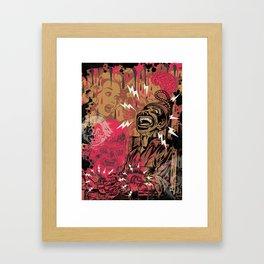 SHOCKING TERRORS Framed Art Print
