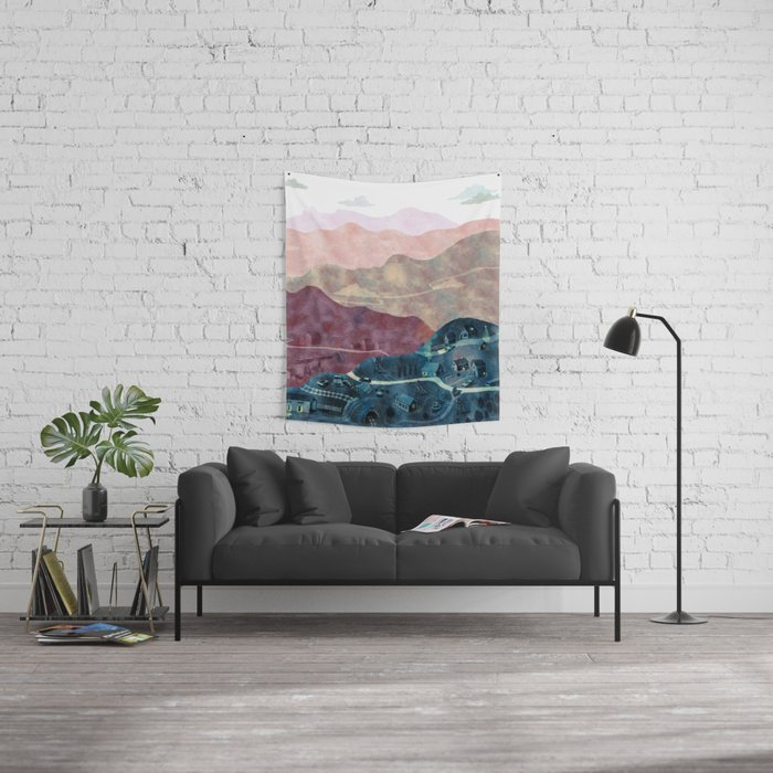 the village Wall Tapestry