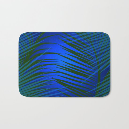 Tropical Palm in Dark Bath Mat