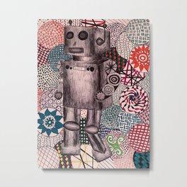 Roboto Metal Print