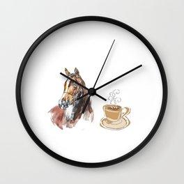 I'm A Simple Woman I Love Coffee & Horses Wall Clock