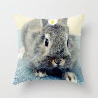 bunny Throw Pillows featuring Bunny by Falko Follert Art-FF77