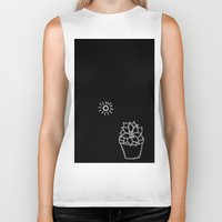 succulent Biker Tanks featuring Succulent by Qkids Apparel and Accessories