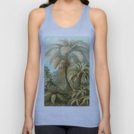 Vintage Tropical Palm Unisex Tank Top