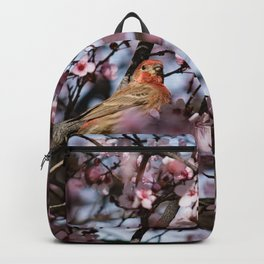 Spring Blossoms - Male House Finch Backpack