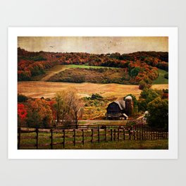 Farm Country Autumn Art Print