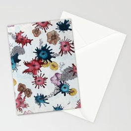 ink blot bouquet Stationery Cards