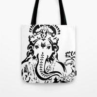 ganesh Tote Bags featuring Ganesh by ShivaR