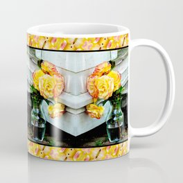 Good as Gold Roses in a vase with a patterned border Coffee Mug