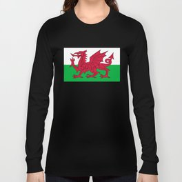 Flag of Wales - Hi Quality Authentic version Long Sleeve T-shirt