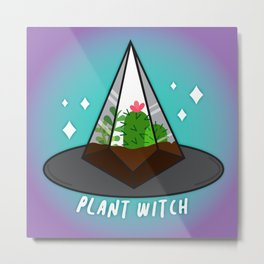 Plant Witch Metal Print