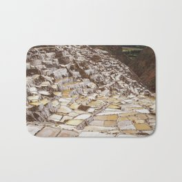 Salina de Maras in Sacred Valley Peru Bath Mat