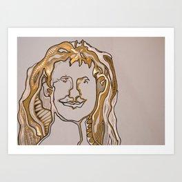 self portait 2 Art Print