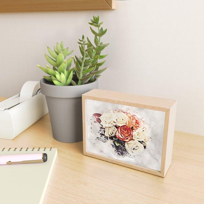 Flower Blot Framed Mini Art Print