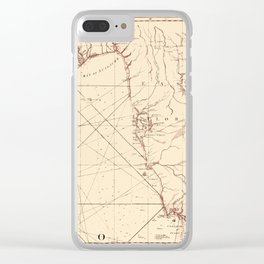 Map Of Florida 1775 Clear iPhone Case